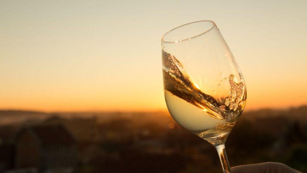 verre de chardonnay